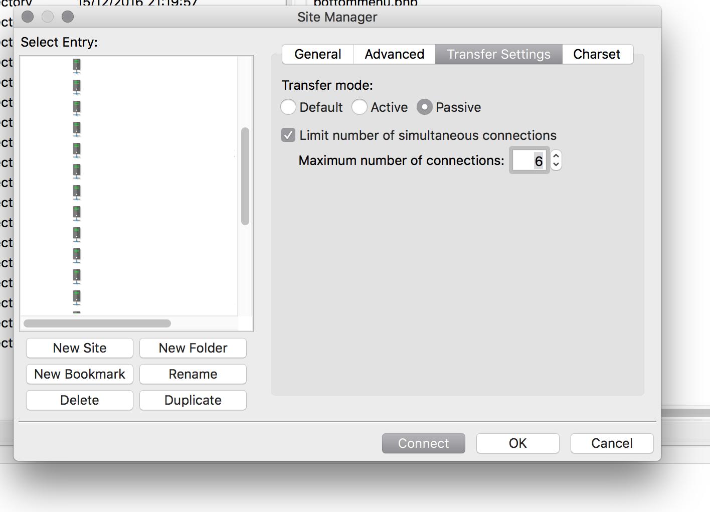 Filezilla transfer settings passive